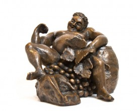 sculpture bronze bacchus