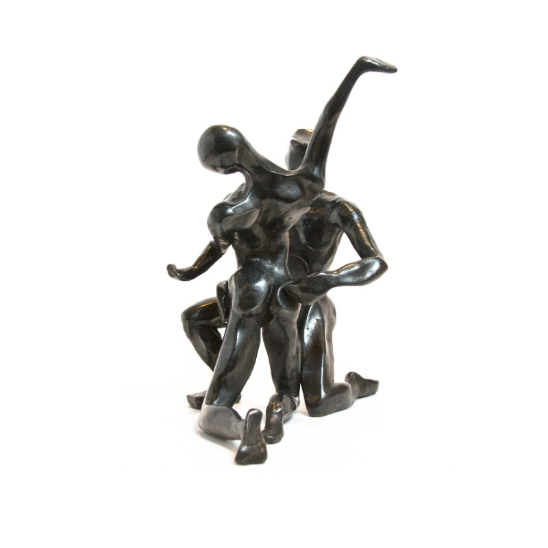 sculpture-bronze-couple-patine-foncee