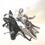 personnage bronze noir argent