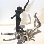 corps femme bronze noir argent