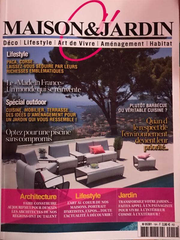 Sonia modock pr sente dans le magazine c maison jardin for Maison jardin magazine