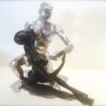 personnage bronze argent